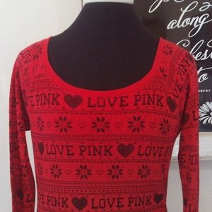 Victoria's Secret PINK Thermal Long Sleeve Tee SP
